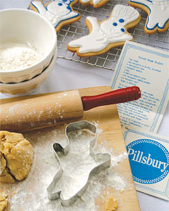 Making Pillsbury Doughboy Cookies